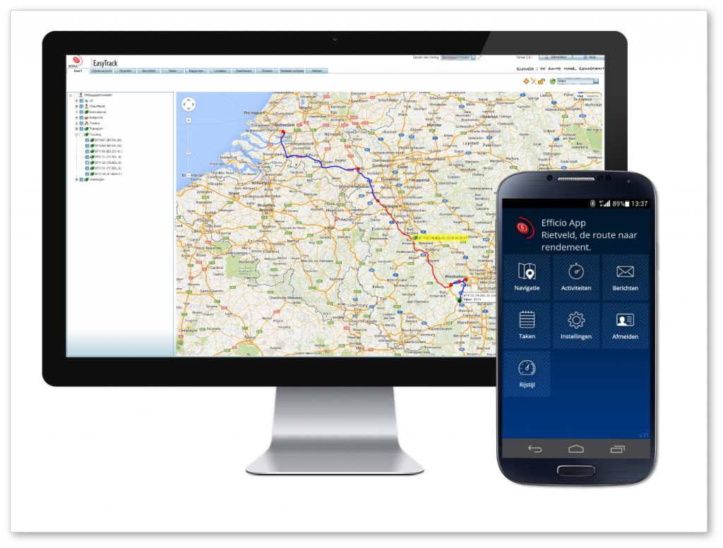 Charters op Efficio App